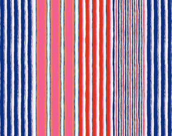 SALE Fall 2017 by Kaffe Fassett for Free Spirit - Regimental Stripe - Contrast - BTHY Cotton Quilt Fabric 2020