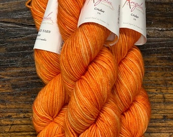 Marigold Orange Cricket DK by Anzula Yarns - Hand- Dyed Superwash Merino/Cashmere/Nylon