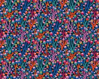 Homeward Monika Forsberg Anna Maria's Conservatory Free Spirit - Lagom Navy MF017.NAVY - Cotton Quilt Fabric - FQ BTHY Yard 9-21