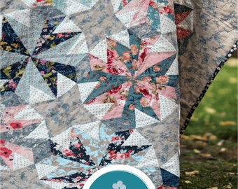 Rose Garden by Emma Newman for Emma Mary Designs - Print Quilt Pattern and or Acrylic Template Set