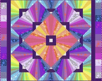 Solar Flare Quilt Kit by Tula Pink Designed by Stacey Day - Free Shipping in the US