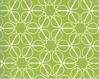 SALE Quotation by Zen Chic - Outline Pistachio 1733 19 Select a Size - FQ, half or full yard- Moda Cotton Quilt Fabric K