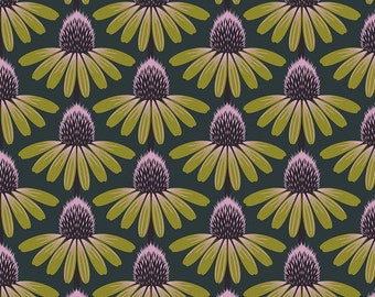 Love Always by Anna Maria Horner for Free Spirit - Echinacea - Seaweed - PWAH075 - Select a Size - Cotton Quilt Fabric