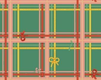 Sugarplum by Heather Ross for Windham Fabrics - Plaid - Spruce - 50168-8 - Fat Quarter - FQ - Cotton Quilt Fabric 921
