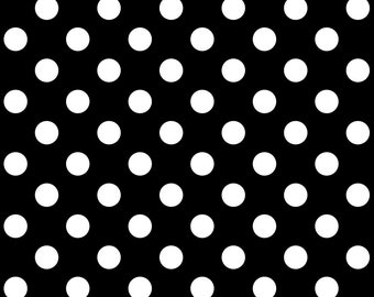 Linework by Tula Pink - Pom Poms - Ink Black  - Select a Size - Cotton Quilt Fabric 8-21+B