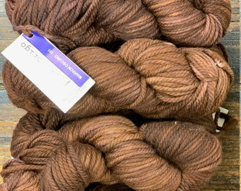 Marron Oscuro 181 Malabrigo Chunky Yarn - Kettle Dyed Pure Merino Wool