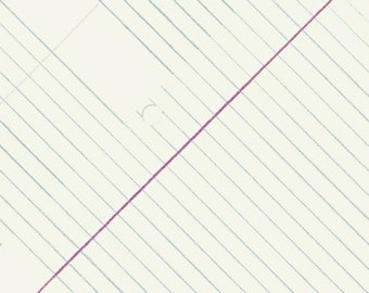 Jot By Heather Givens Crimson Tate College Ruled 50455-1 - 100% Cotton Quilt Fabric - FQ Fat Quarter BTHY Yard 1021