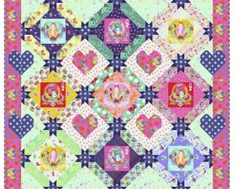 Queen of Hearts Quilt Kit featuring Curiouser & Curiouser by Tula Pink