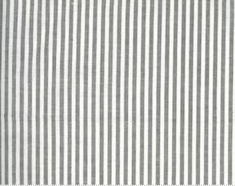 Low Volume Stripe Silver Grey Woven 18201 15 by Jen Kingwell for Moda - FQ Fat Quarter BTHY Yard - Cotton Quilt Fabric