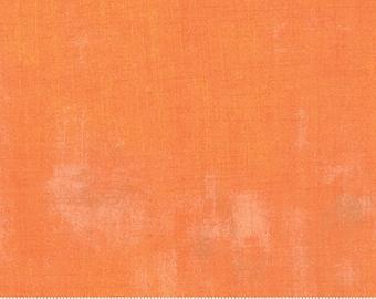 Basicgrey - Grunge for Moda - Clementine Orange 30150 284 - 1/2 Yard Cotton Quilt Fabric 921
