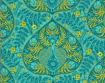 SALE Kasada by Crystal Manning for Moda - Plume - Teal - 11864 13 - Select a Size - Cotton Quilt Fabric K