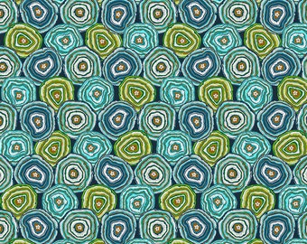 Geodes - MagiCountry by Odile Bailloeul for Free Spirit - Blue PWOB054 - FQ Fat Quarter BTHY Yard - Cotton Quilt Fabric 1021