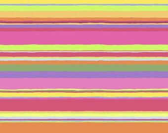 Kaffe Fassett Collective - Promenade Stripe - Sunny - PWGP178 - FQ Fat Quarter cotton quilt fabric 1021
