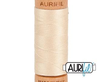 Aurifil Natural Ecru Cotton Mako Thread - 80wt - 280m - BMK80 2310