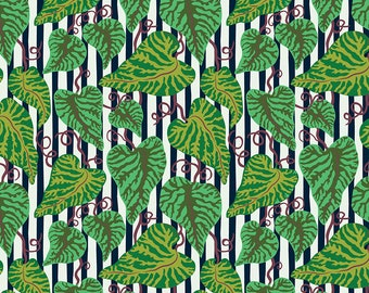 Earth Made Paradise by Kathy Doughty Free Spirit Fabrics - Tropical Leaf Cool MO051.COOL- Cotton Quilt Fabric - Fat Quarter FQ BTHY Yard K