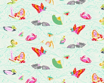 Curiouser & Curiouser by Tula Pink - Sea of Tears Wonder - TP162.WONDER Cotton Quilt Fabric - Fat Quarter fq BTHY Yard