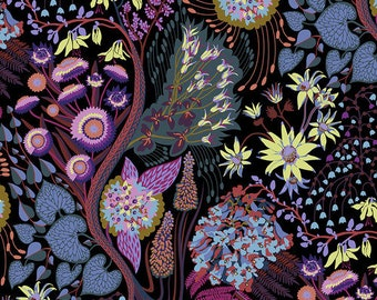 Love Always by Anna Maria Horner for Free Spirit - Source Code - Midnight - PWAH119 - Select a Size - Cotton Quilt Fabric