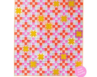 Campfire Glow Quilt Pattern by Then Came June - Print Pattern