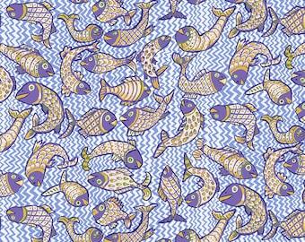 Kaffe Fassett Collective - Brandon Mably - August 2021 - Koi Polloi - Delft - PWBM079.DELFT - Select a Size - 100% Cotton Quilt Fabric