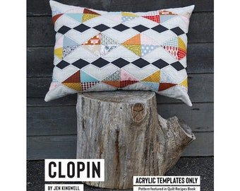 Clopin Cushion Pillow Acrylic Template featured in Quilt Recipes Pattern Book by Jen Kingwell Designs