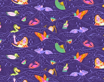 Curiouser & Curiouser by Tula Pink - Sea of Tears Daydream - TP162.DAYDREAM Cotton Quilt Fabric - Fat Quarter fq BTHY Yard