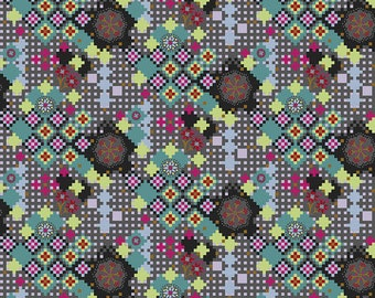 Love Always by Anna Maria Horner for Free Spirit - Postage Due - Kaleidoscope - PWAH068 - Select a Size - Cotton Quilt Fabric