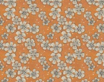 Spirit of Halloween by Cori Dantini for Free Spirit - Nocturnal Bloom - CD004 Orange - 100% Cotton Quilt Fabric - FQ BTHY Yard 921