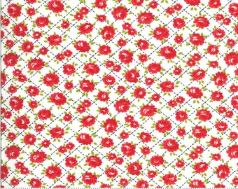 SALE Shine On by Bonnie & Camille for Moda - Red Roses - 55214 20 - Select a Size - Cotton Quilt Fabric