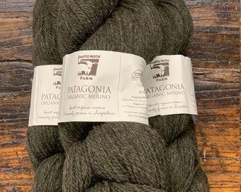 Seaweed Green #108 Patagonia Organic Wool by Juniper Moon Farm - Sport / DK Weight 100% Wool - Lot # SB 7256