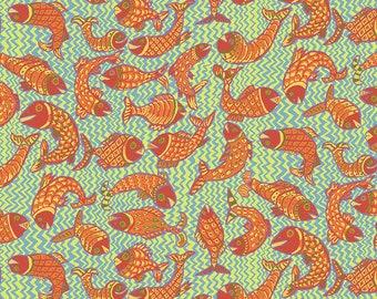 Kaffe Fassett Collective - Brandon Mably - August 2021 - Koi Polloi - Yellow - PWBM079.YELLOW - Select a Size - 100% Cotton Quilt Fabric