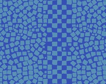 Kaffe Fassett Collective - Brandon Mably Chips Aqua Blue - PWBM073 - FQ Fat Quarter BTHY Yard -100% Cotton Quilt Fabric 1021