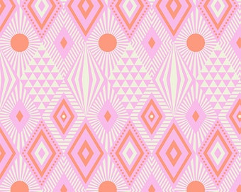 Tabby Road by Tula Pink for Free Spirit - Lucy - Marmalade Skies - 1/2 Yard Cotton Quilt Fabric 8-21B