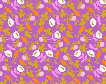 Heather Ross Briar Rose for Windham Fabrics - Calico Lilac - 1/2 yard cotton quilt fabric 516