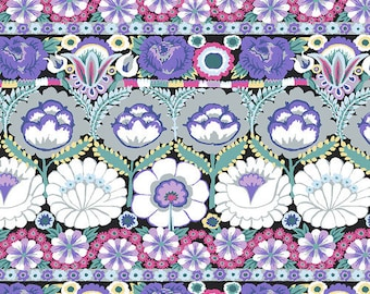 Kaffe Fassett Collective - August 2021 - Embroidered Flower - Contrast - PWGP185.CONTRAST - Select a Size - 100% Cotton Quilt Fabric