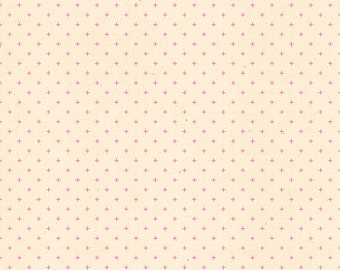 Add It Up by Alexia Abegg Ruby Star Society Moda - Basic Dots - Neon Pink - RS4005 40 - BTHY Yard - Cotton Quilt Fabric