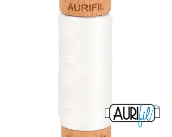 Aurifil White Cotton Mako Thread - 80wt - 280m - BMK80 2021