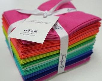 Tula Pink Solids Fat Quarter Bundle by Free Spirit Fabrics - 100% Cotton Quilt Fabric