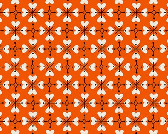 SALE Smol by Kimberly Kight of Ruby Star Society for Moda - Coeur De Fleur - Warm Red - RS3018 14 - Select a Size - Cotton Quilt Fabric K