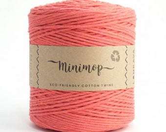 Minimop - Coral 80/20 Recycled Cotton & Polyester Twisted Cord Twine Yarn by Lankava