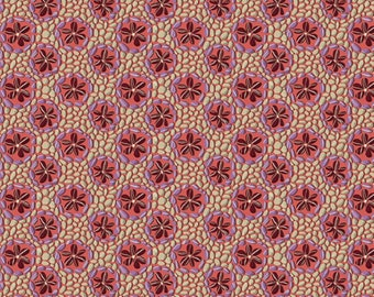 SALE Land Art by Odile Bailloeul for Free Spirit - Stone Flowers - Rose PInk - 100% Cotton Quilt Fabric - Choose Your Size