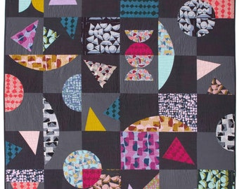 Vestige Quilt Pattern PDF by Anna Maria Horner's Conservatory, using the Vestige Collection by Bookhou - PDF Download