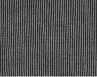 Low Volume Stripe Charcoal Grey Woven 18201 25 by Jen Kingwell for Moda - FQ Fat Quarter BTHY Yard - Cotton Quilt Fabric