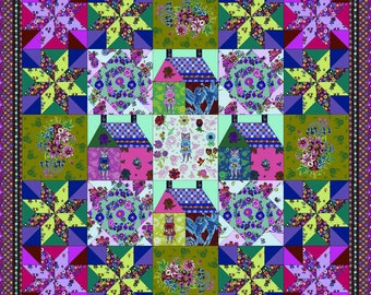 Sunday in the Country Quilt Pattern PDF by Anna Maria Conservatory Sunday in the Country Fabrics by Nathaline Lete - PDF Download
