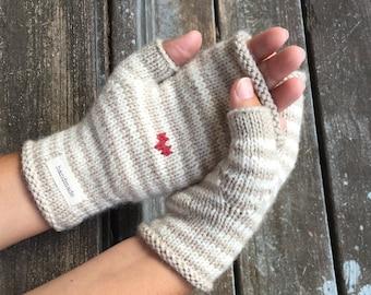 Anita Mitts Mittens by Big Bad Wool - Knit Kit Bundle