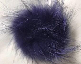 Snap on Raccoon XL Pom Pom 15 cm - Periwinkle Purple