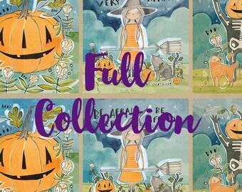 Spirit of Halloween by Cori Dantini for Freespirit - 100% Cotton Quilt Fabric Fat Quarter Bundle Kit