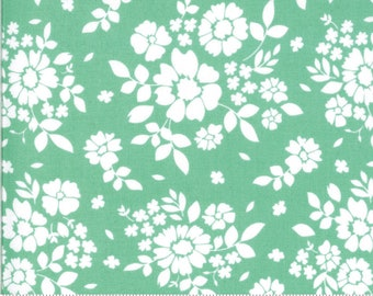 """Pre-Cut 108"""" Canning Day Rainy Day Green Corey Yoder Little Miss Shabby Moda - 11159 26  100% Cotton Quilt Back Fabric - Sateen 8-21"""