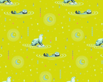 Spirit Animal by Tula Pink for Free Spirit - Otter and Chill - Sunkissed - Cotton Quilt Fabric 8-21B
