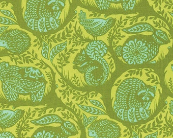 Slow & Steady by Tula Pink for Free Spirit - Grandstand - Strawberry Kiwi - Cotton Quilt Fabric 8-21