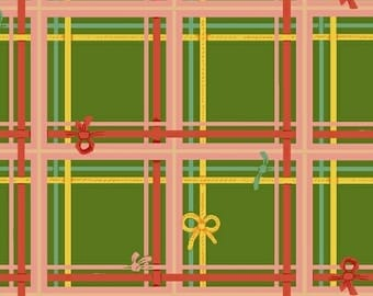 Sugarplum by Heather Ross for Windham Fabrics - Plaid - Green - 50168-5 - Fat Quarter - FQ - Cotton Quilt Fabric 921